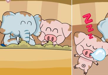 好吃懶做的小象